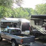 overcrowded campsite at KOA in Fort Mill
