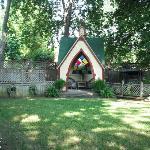 Wedding area in The Secret Garden.