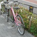 My pink bike:  Fit right in in Harajuku!