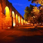 Aqueduct at night