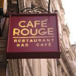 Enseigne de Café Rouge