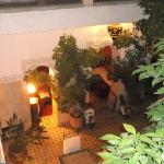evening in the courtyard and lounge area