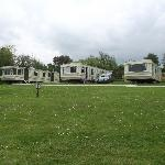 view of static caravans