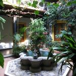 One of the mini courtyards
