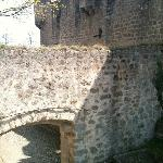 Chateau du Hohlandsbourg outer bailey leading to garden