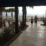 Lobby to beach