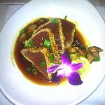 Best thing on the menu- Ahi tuna atop wasabi mashed potatoes.