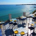 il ristorante slow food nella terrazza al IV piano dell'hotel Palladio