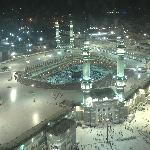 A view of the Kaaba and Haram from my room