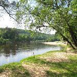 Riverside setting