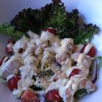 lobster salad with strawberries and mango sauce