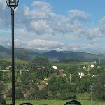 Vista del territorio desde la terraza del Restaurante