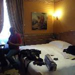 Notre chambre, petite mais fonctionnelle