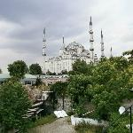 view towards the blue mosque