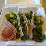 A sample of four different tacos from R&R Taqueria