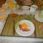 Delicious breakfast at Casa Verde