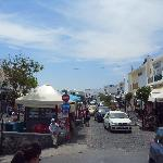 Main street Fira, less than a minute walk from the hotel