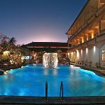 Main Pool at Night and Exterior oof Superior Rooms