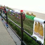 The Saltburn knitting bandit struck the night before we arrived!