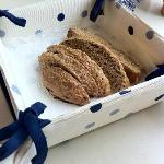 The home-made, wholemeal bread which Sue baked for us to eat with breakfast. Beautiful!