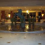 hotel lobby at night