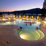 Pools at night.