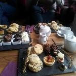 Afternoon tea cake selection