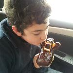 My son enjoying his Voodoo Doll!!