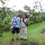 Pioneers Juan and Ed with their snake sticks