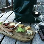 Cheese, hand made crackers and a nice cheeky Merlot!