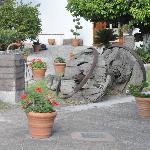 Front yard of the Hotel Posada de la Aldea