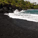 Jet Black Sand Beach