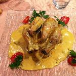 coquelet sauce foie gras