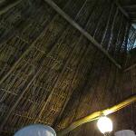 Ambar palapa roof, didn't leak during intense tropical storm