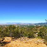 Spur trail, about 100 yards long, to a scenic overlook of Prescott.