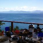 delicious breakfast with the best view
