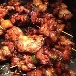 Japanese chicken skewers