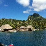 Vue du Yacht Club Bar Restaurant in Bora Bora