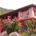 Flower garden with part of house
