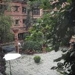 View of the picturesque courtyard from the room