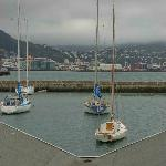 Yachts mooring the bay
