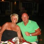 Me and hubby in the garden restaurant