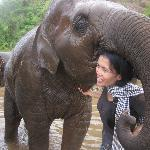 Lek with the baby elephant