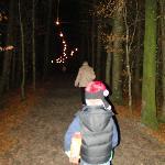 Walking down to Santa