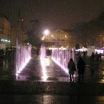 Fountains in front of theater