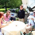 Familientreffen auf der Terasse
