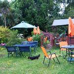 the lovely garden at Le Papillon