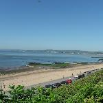 exmouth beach from queens drive path