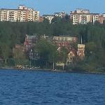 Hotel seen from the sea