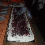 torta offerta dall'hotel